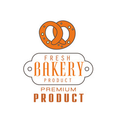 fresh bakery product premium product logo vector image vector image