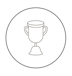 goblet icon outline single education icon from vector image vector image