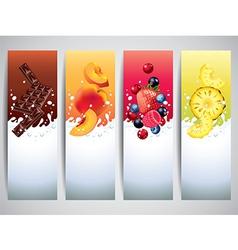 yogurt banners vector image