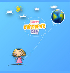 1 june international childrens day background with vector