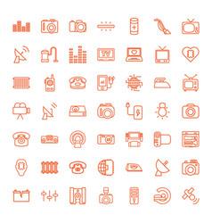 49 electronics icons vector image