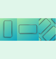 a collection smartphones at different angles vector image
