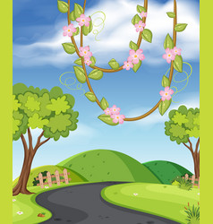 a rural road view vector image