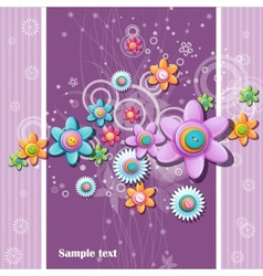 abstract background buttons in shape vector image