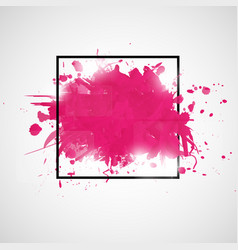 abstract background with paint splashes vector image