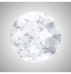 Abstract black and white sphere polygonal vector