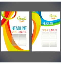 Abstract template design with colored lines and vector