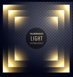 Abstract transparent light effect frame design vector