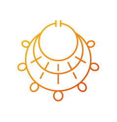 Ancient jewelry gradient linear icon vector