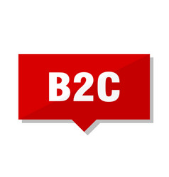 b2c red tag vector image