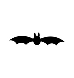 bat icon black silhouette with wings isolated vector image