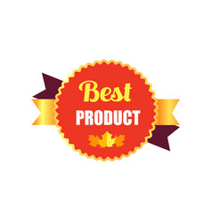 best product sticker and leaf vector image
