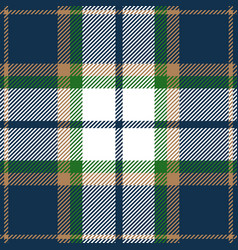 blue green and beige tartan plaid seamless pattern vector image