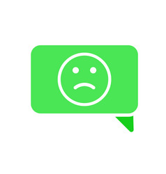 bubble chat dialogue emotion face message sad icon vector image