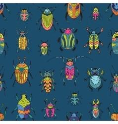 Bugs seamless pattern vector