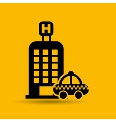 button hotel and taxi icon design graphic vector image