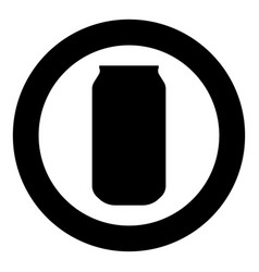 can icon black color in circle or round vector image