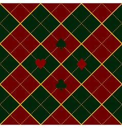Card Suits Green Royal Red Diamond Background vector image