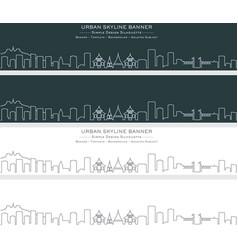 Chiang mai single line skyline banner vector