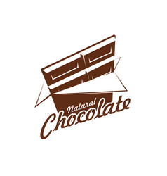 Chocolate bar pack icon for cafe vector