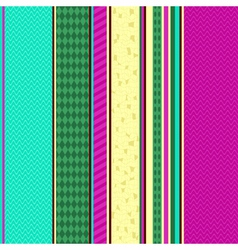 Colorful striped seamless pattern vector image