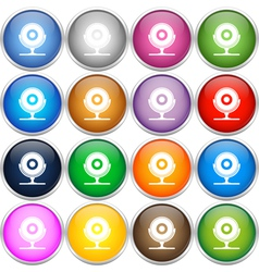 Colorful web cam icons vector