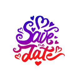 concept of save the date vector image
