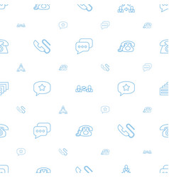 conversation icons pattern seamless white vector image