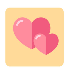 couple of heart flat icon vector image