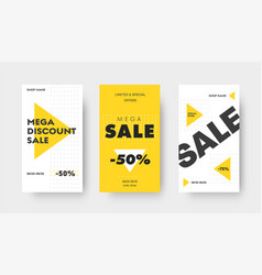 Design social media banners for big sale with vector