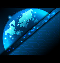 digitizing world network connection vector image