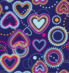Dotty hearts seamless wallpaper vector