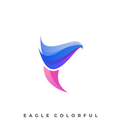 Eagle color full template vector