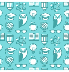 education pattern flat 2 vector image