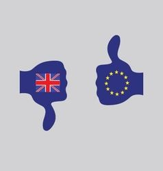 England out of the EU vector