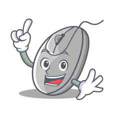 finger mouse mascot cartoon style vector image