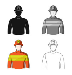 Firefighterprofessions single icon in cartoon vector