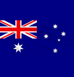 Flag australia swaying in wind realistic vector