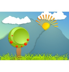 Flat landscape abstract background vector image