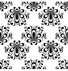 Floral seamless pattern black vector