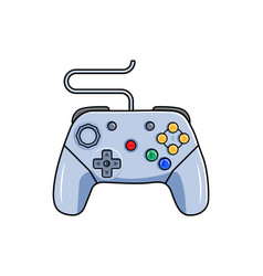Game pad icon isolated gamepad device with wire vector