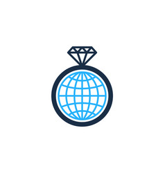 globe diamond logo icon design vector image