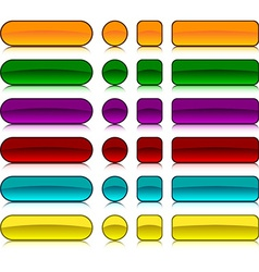 Glossy blank buttons vector