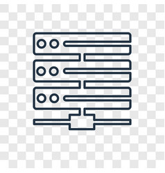 hosting concept linear icon isolated on vector image
