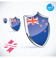 I Love New Zealand Flag vector image