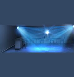 Interior background with empty dance floor vector