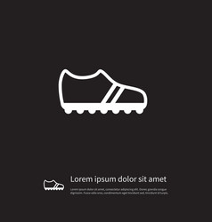 Isolated gumshoes icon running element can vector