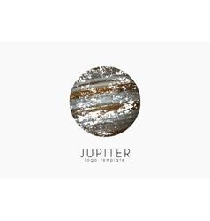 Jupiter logo Planet logo Cosmic logo Space logo vector image