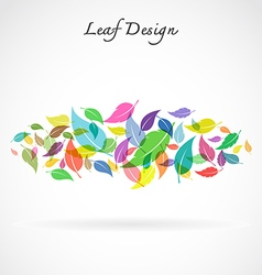 Leaf design vector image