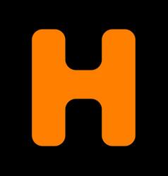 letter h sign design template element orange icon vector image
